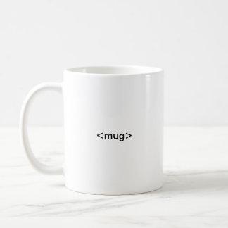 HTML Coder's Mug, <mug></mug> Coffee Mug