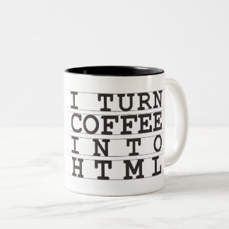 HTML Coffee Two-Tone Coffee Mug