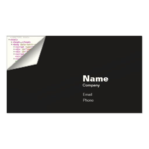HTML Curl - Indestructible Business Card Templates