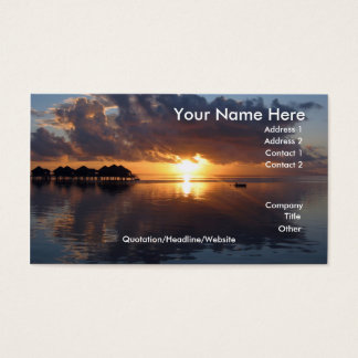 Huahine Sunset Business Card