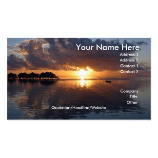 Huahine Sunset Business Card