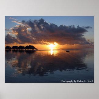 Huahine Sunset Poster