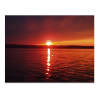 Hubbard Lake Sunset Postcard