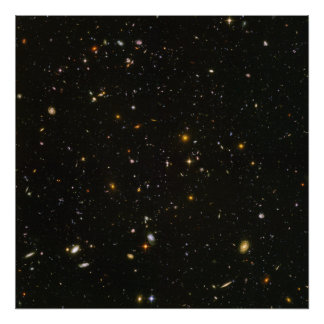 Hubble sees galaxies galore poster