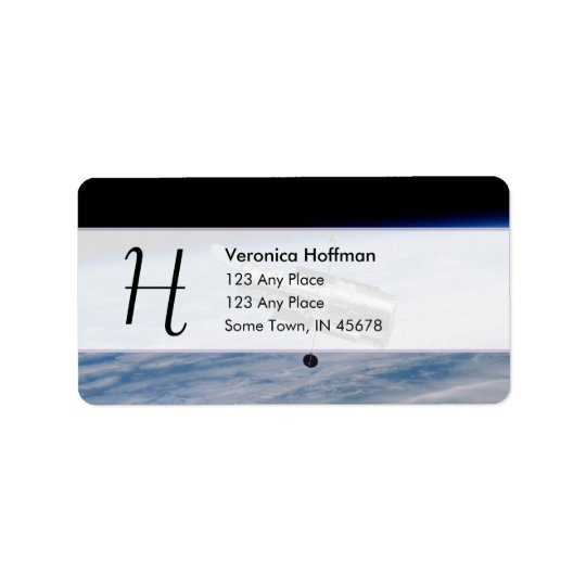 Hubble Space Telescope Address Label