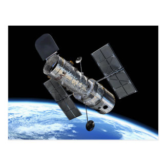 Hubble Space Telescope In Earth Orbit NASA Photo Postcard