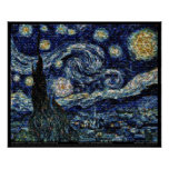 """Hubble Starry Night (29.3""""x24"""") Poster"""
