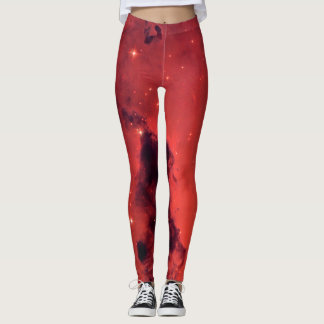 HUBBLE TELESCOPE ASTROPHOTO - RED NEBULA LEGGINGS
