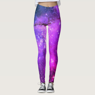 HUBBLE TELESCOPE ASTROPHOTO STAR CLUSTERS - PINK LEGGINGS