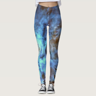 HUBBLE TELESCOPE BLUE NEBULA LEGGINGS