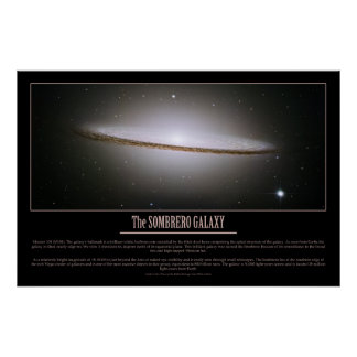 HUBBLE - The SOMBRERO GALAXY Poster