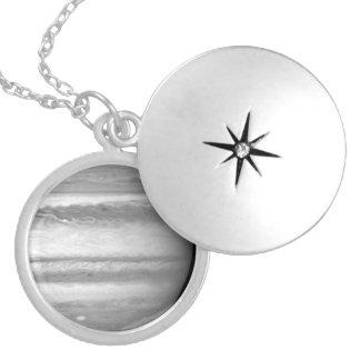 Hubble View of Jupiter Round Locket Necklace