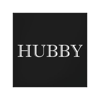 Hubby Married Couple Canvas Print