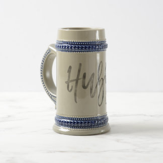Hubby Silver Foil Wedding Day Coffee Cup Stein