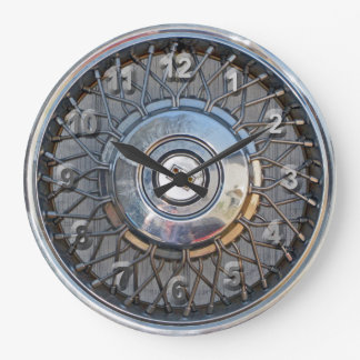 Hubcap Large Clock