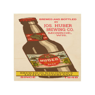 Huber Beer Wood Wall Decor