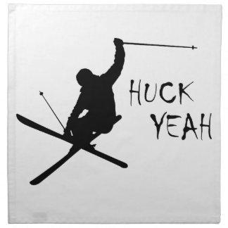 Huck Yeah (Skiing) Napkin