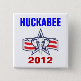Huckabee 2012 15 cm square badge