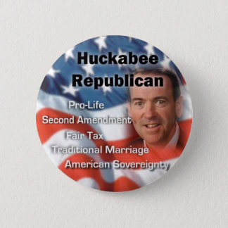 huckabeerepublican 6 cm round badge