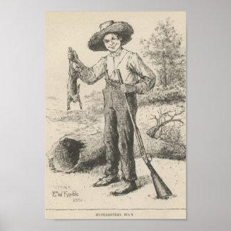 Huckleberry Finn Illustration Poster