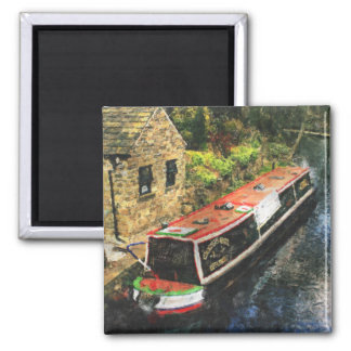 Huddersfield Canal Square Magnet
