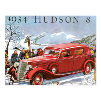 Hudson 1934 postcard