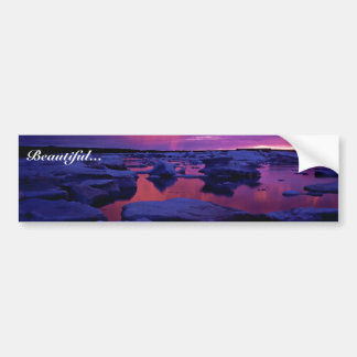 Hudson Bay Sunset , Canada Bumper Sticker