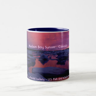 Hudson Bay Sunset , Canada Two-Tone Coffee Mug