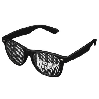 Hudson Henry's Adult Party Shades, Black Retro Sunglasses