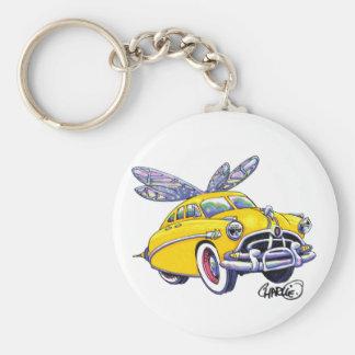 Hudson Hornet Basic Round Button Key Ring