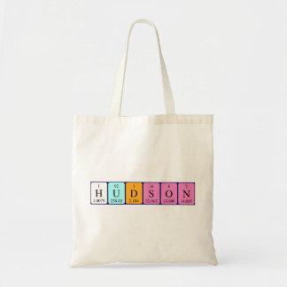 Hudson periodic table name tote bag