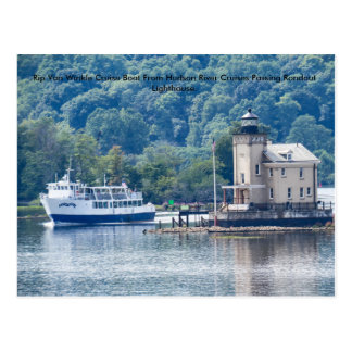 Hudson River Cruises & The Rondout Lighthouse Postcard