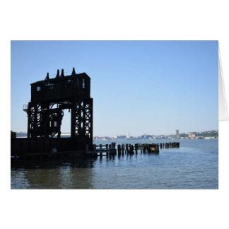 Hudson River Dock New York City NYC Photography Card