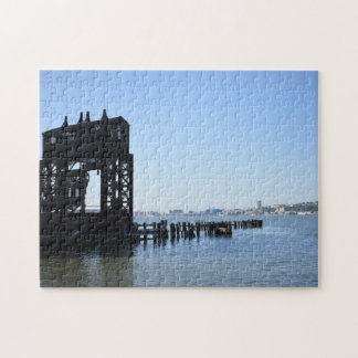 Hudson River Dock New York City NYC Photography Jigsaw Puzzle