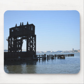 Hudson River Dock New York City NYC Photography Mouse Pad