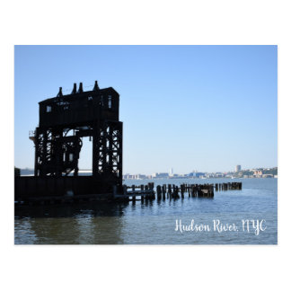Hudson River Dock New York City NYC Photography Postcard