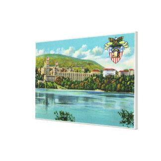 Hudson River View of US Military Academy Stretched Canvas Prints