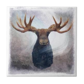 Hudson the Moose Ceramic Tile