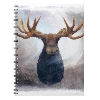 Hudson the Moose Spiral Notebook