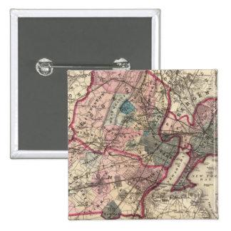 Hudson, Union, Essex Cos, NJ 15 Cm Square Badge