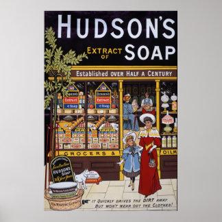 Hudson's Soap 1895 Poster