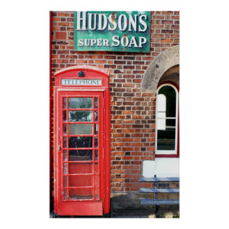Hudson's Super Soap Sign Poster