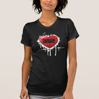 Hue and Cry - Twisted Heart - Black Girls T-Shirt