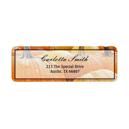 Hue of Pumpkins Return Address Label