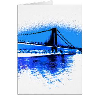 Hues of Blues Bridge card