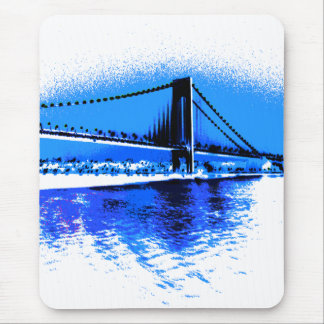 Hues of Blues Bridge mousepad
