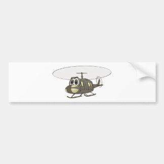Huey Helicopter Cartoon Bumper Sticker