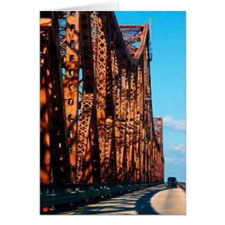 Huey P Long Bridge, Baton Rouge, Louisiana Card