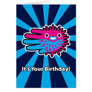 Huff and Puff Puffer Fish Birthday Card
