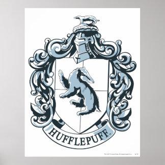 Hufflepuff Crest Blue Poster